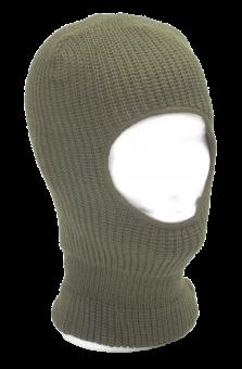 Strickmaske mit Ganzgesichtsöffnung Einheitsgröße | oliv