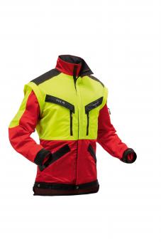 Pfanner KlimaAIR® Forstjacke M | gelb-rot